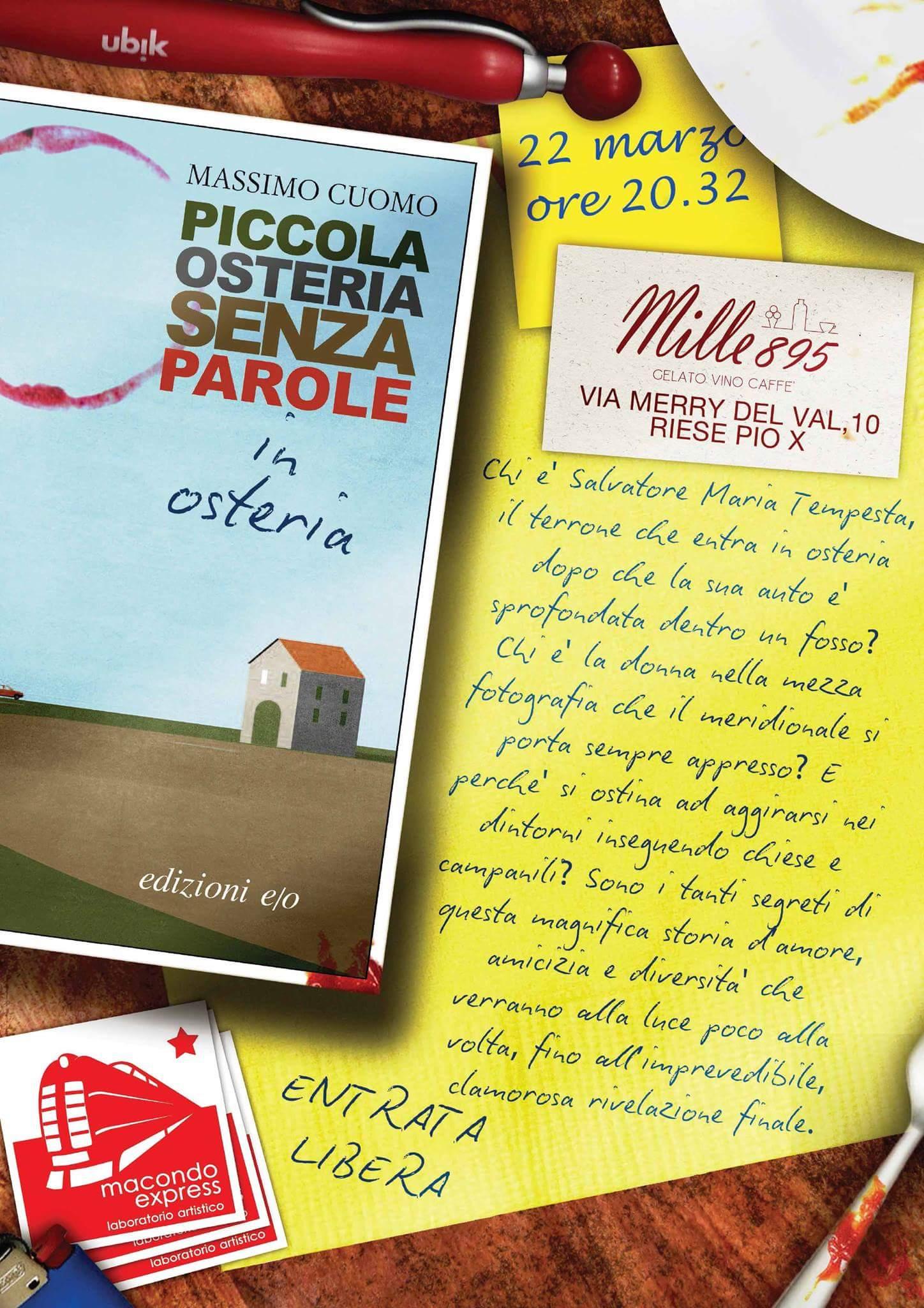 Piccola Osteria senza Parole in Osteria. A Castelfranco, Osteria Mille895.